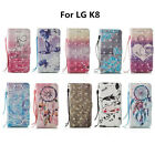 Latest Design For LG K8 3D Painted Leather Wallet Phone Case Protector Cover