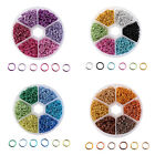 1080pcs/Box Strong Mixed 6 Colors Aluminum Wire Open Jump Rings Jewelry Findings