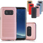 Luxury Shookproof Hard PC+Soft TPU Card Case Cover For Samsung Galaxy S8/S8 Plus