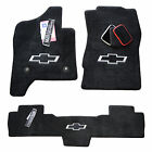 Chevrolet Silverado 1500 Floor Mats - Crew Cab - Jet Color - 3D Bowtie on ALL