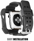38/42mm Black Rugged Protective Case with Strap Band For Apple Watch Series 1/2
