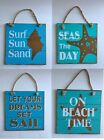 "Nautical Sign Coastal Beach Cottage House Shabby Chic Wall Hanger NEW 7.5"" Sq"