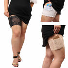 1x Women Ladies Lace Non Slip Elastic Socks Anti-Chafing Thigh Bands Leg Warmers