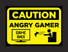 Man Cave, Angry Gamer Zombie Research Bedroom Door Plaque Wall Signs 3 to pick