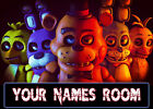 "Personalised FNAF Children's Name Plaques ""Five Nights At Freddies"""