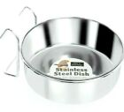 COOP CUPS - (Small - XL) - Staintless Steel Cage Bowls dm Pet Bird Food Water cm