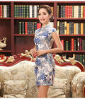 Lady Women Qipao Chinese short mini Slim Eevening Dress Improved daily Cheongsam