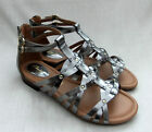 NEW CLARKS VIVECA ROME WOMENS PEWTER LEATHER SANDALS SIZE 5 / 38 WIDE FIT