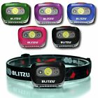 Brightest LED Headlamp - with Red Light - Blitzu i2 Headlight Flashlight - New