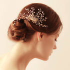 Vintage Wedding Crystal Hair Accessories Comb Beads Headpiece Jewelry Tiara Gold