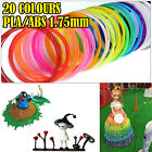 3D Drawing Printer Pen Filament ABS/PLA 1.75mm 20colors 10mts each for Modelling