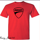 DUCATI LOGO T Shirt red black logo SIZE S THRU 2XL FREE SHIPPING