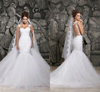 New White/ivory Lace Wedding Dress Bridal Gown Bride Size 2/4/6/8/10/12/14/16