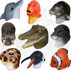 Latex Realistic Animal Dolphin Seal Otter Alligator Beaver Fish Fancy Dress Mask