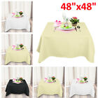 "48X48"" Square Tablecloth Polyester Table Cover Cloth Banquet Wedding Party"