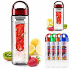 700ml Fruit Infuser Water Bottle Infusion BPA Free Detox Drink Juice Bottle