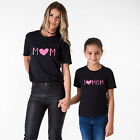 Mommy and Me Outfits I Love Mommy Mother Daughter Matching Shirts Fashion NEW