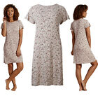Marks & Spencer Womens Short Sleeve Bird Print Nightdress M&S Nightshirt Nightie