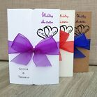 Personalised Handmade Gatefold Wedding Day or Evening Invitations with Envelopes