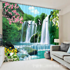 3D Falls Scenery 5 Blockout Photo Curtain Printing Curtains Drapes Fabric Window