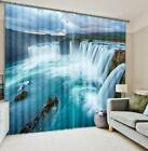 3D River Waterfall Blockout Photo Curtain Printing Curtains Drapes Fabric Window