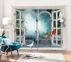 3D Gate Birds 110 Blockout Photo Curtain Printing Curtains Drapes Fabric Window