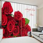 3D Red Roses 46 Blockout Photo Curtain Printing Curtains Drapes Fabric Window