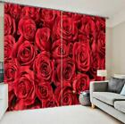 3D Red Roses 52 Blockout Photo Curtain Printing Curtains Drapes Fabric Window
