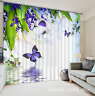 3D Butterflies 163 Blockout Photo Curtain Printing Curtains Drapes Fabric Window