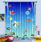 3D Ocean Fishes 89 Blockout Photo Curtain Printing Curtains Drapes Fabric Window