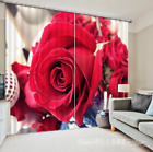 3D Red Roses 212 Blockout Photo Curtain Printing Curtains Drapes Fabric Window