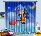 3D Happy Girl 5 Blockout Photo Curtain Printing Curtains Drapes Fabric Window AU