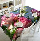 3D Pink Flowers 1 Tablecloth Table Cover Cloth Birthday Party Event AJ WALLPAPER