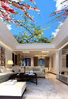 3D Flowers and Sky Ceiling WallPaper Murals Wall Print Decal Deco AJWALLPAPER