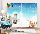 3D Snow Stars 0372 Blockout Photo Curtain Print Curtains Drapes Fabric Window UK