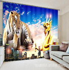3D Dragon Tiger025 Blockout Photo Curtain Print Curtains Drapes Fabric Window UK