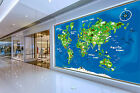 3D Cute World Map 1048 WallPaper Murals Wall Print Decal Wall Deco AJ WALLPAPER