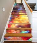 3D Color Clouds 25 Stairs Risers Decoration Photo Mural Vinyl Decal Wallpaper US