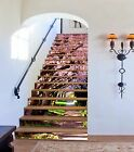 3D Flowers Path 12 Stairs Risers Decoration Photo Mural Vinyl Decal Wallpaper US