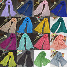 Women Girls Solid Colors Crinkle Long Soft Voile Scarf Wrap Stole Shawl Scarves