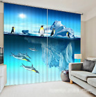 3D Penguin 635 Blockout Photo Curtain Printing Curtains Drapes Fabric Window UK