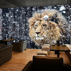 3D Lion In The Snow 6 Wall Paper Wall Print Decal Wall Deco Indoor AJ Wall Paper