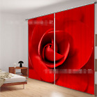 3D Red Flower 1 Blockout Photo Curtain Printing Curtains Drapes Fabric Window CA