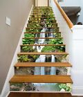 3D Waterfall Plants Stair Risers Decoration Photo Mural Vinyl Decal Wallpaper UK