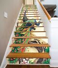 3D Peacocks 618 Stair Risers Decoration Photo Mural Vinyl Decal Wallpaper UK