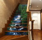 3D Green Tree River Stair Risers Decoration Photo Mural Vinyl Decal Wallpaper UK