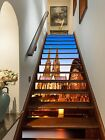 3D Shiny Buildings Stair Risers Decoration Photo Mural Vinyl Decal Wallpaper UK
