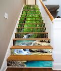 3D River Forest 604 Stair Risers Decoration Photo Mural Vinyl Decal Wallpaper UK