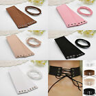 'Faux' Leather  Wide Tie  Lace Up Collar Chokers - Many Colours(JC 25)