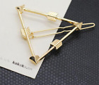 Fashion Girl Gold Hair Clip Statement Hairpin Hairband Comb Bobby Pin Barrette